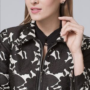 White House Black Market Floral Jacket